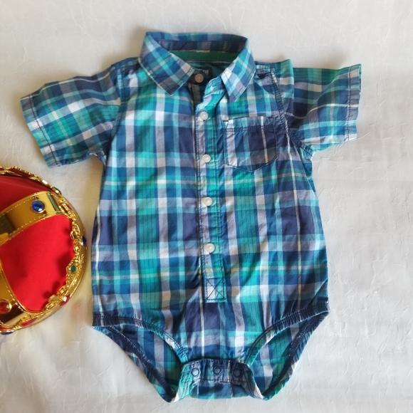 👑 OshKosh 18m Shirt Plaid Button Up Poplin